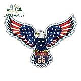 A/X 13 cm x 9,7 cm für USA Flagge Eagle Route 66 Anime Auto Aufkleber Vinyl JDM Stoßstange Kofferraum LKW Grafik Windschutzscheibe Stoßstange