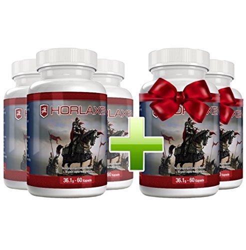 Horlaxen - Muskelwachstums-Pille für effektiven Muskelaufbau und Fettabbau | 5 Flaschen zum Preis von 3 (5 Flaschen)