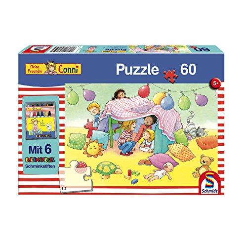 Schmidt Spiele Puzzle 56259 Meine Freundin Conni, Baut Eine Höhle, 60 Teile