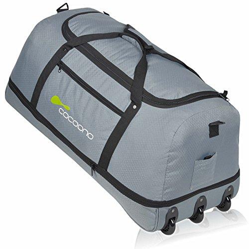 XXL Rollenreisetasche COCOONO 100-135 Liter Volumen Reisetasche faltbar Trolley Koffer Storm Tasche (Anthrazit)