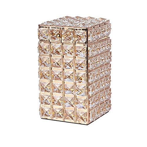 JIEJIE Cristallo Trucco Jewelry Brush Storage Box Home Decor Organizzare Holder Contenitore con Coperchio for Perfetto for Toilette, Bagno QIANGQIANG