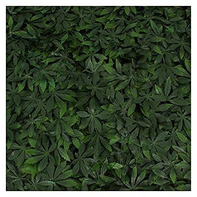 Artificial Marijuana Pot Leaf Hedge - Fake Weed Plant - Smoke Shop Decor - Sound Diffuser Marijuana Wall Art - Topiary Cannabis Greenery Panels