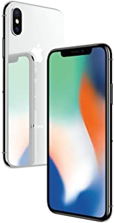 Apple iPhone X Silver 256GB SIM-Free Smartphone (Renewed)