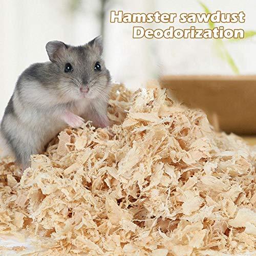 haodene Trucioli di Animali Domestici, 500g Wood Aspen Shavings Deodorant Warm Pad Rimuovi Odore di Polvere per Conigli Piccoli Animali Scoiattoli