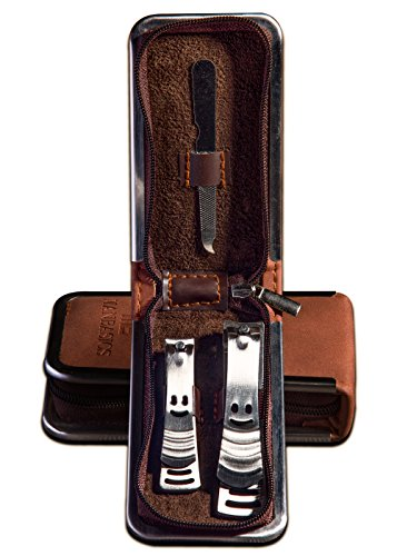 ManBasics Mens Nail Grooming Kit - Nail Clippers for Men - Stainless Steel Mens Nail Clippers Set -...