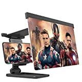 12' Phone Screen Magnifier–3D HD Mobile Phone Screen Amplifier Projector for Movies Videos and Gaming–Adjustable Foldable Phone Holder Stand with Screen Enlarger Compatible with All Smartphones