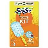 Swiffer Duster Kit Plumeau Attrape-Poussière + 5 Recharges, Attrape Et Retient La Poussière,