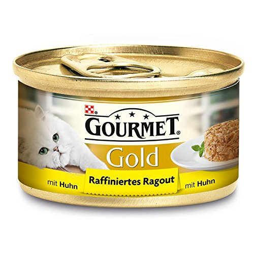 Gourmet Gold Raffiniertes Ragout Huhn 12x85g Katzenfutter