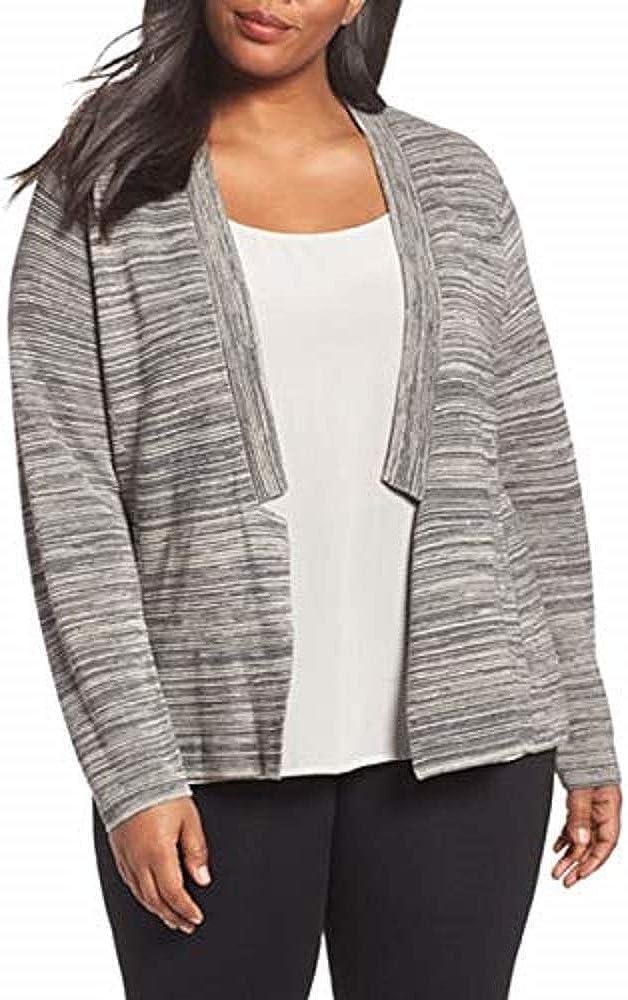 Eileen Fisher Plus Maple Oat Tencel/Organic Cotton Notch Collar Cardigan Size 1X MSRP $308
