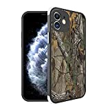 Compatible with iPhone 12 Case Cover Camouflage Tree Trunk and American Flag Pattern Design, [Shock-Absorbing Corners] [Scratch Resistant] [Lens Protective] Hard PC+Flexible TPU Frame Slim Phone Case