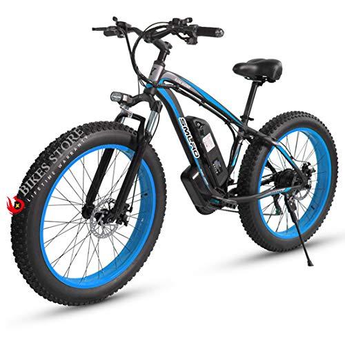 "Elektrofahrrad E-Bike Mountainbike, 26\""*4.0Elektrisches Fahrrad mit 48V 1000W Heckmotor 18AH Abnehmbarer Lithium Akku,MTB für Outdoor HerrenDamen (Black Blue)"