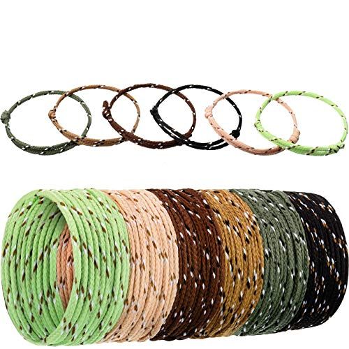 WILLBOND 216 Camouflage Rope Bracelets for Boys, Teens, Neon Rope Woven Adjustable Friendship Bracelets, Toys for Goody Bag Camping Class