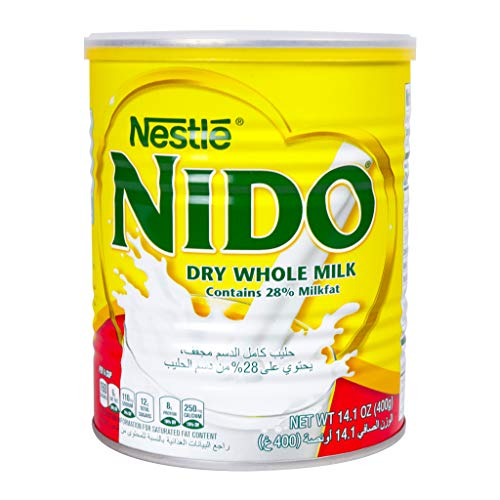 Nestle Nido Milk Powder, Imported from Holland, Specially Formulated, Fortified with Vitamins and Minerals, Easy To Prepare, over 12 months, 14.1 oz