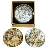 Cartografía/de mapa del mundo semi-spherical cristal pisapapeles (x1)-8cm...
