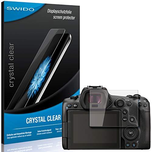 SWIDO Schutzfolie für Canon EOS R5 [2 Stück] Kristall-Klar, Hoher Härtegrad, Schutz vor Öl, Staub und Kratzer/Glasfolie, Displayschutz, Displayschutzfolie, Panzerglas-Folie