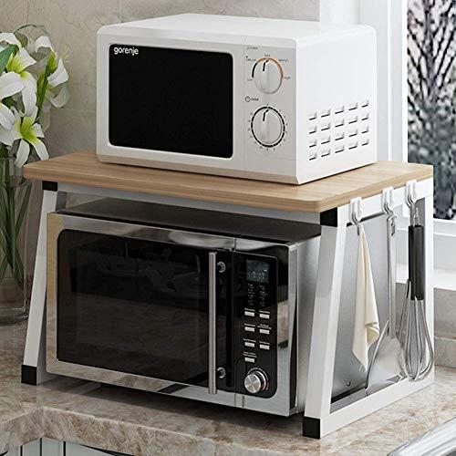 BECCYYLY Horno de microondas Microondas Horno Soporte Estante de Cocina Rack Toaster 2 Niveles Contador de hogares y gabinete Wares Organizador Rejilla del Horno (Color : 1)