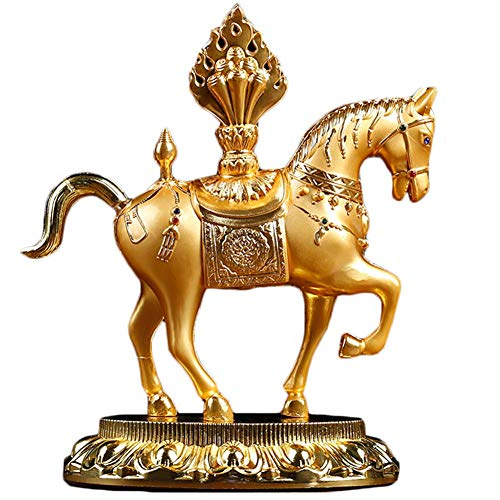 Pferd buddhistische Statuen und Figuren, religiöse Feng Shui Lucky Sculptures Ornament, Dekoration Geschenk für Home Car Office