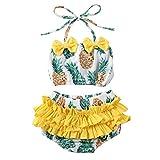 Ensemble de maillot de bain 2 pièces pour enfant et fille bikini - Imprimé fruit mignon -  Jaune -  24 mois