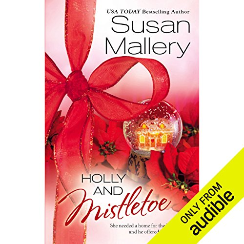 Holly and Mistletoe audiobook cover art