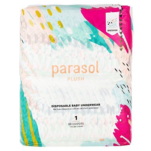 Parasol Babywindeln Größe 1 (< 5 kg), Discover Collection, 4 Stück, 66 Stück (insgesamt 264 insgesamt)