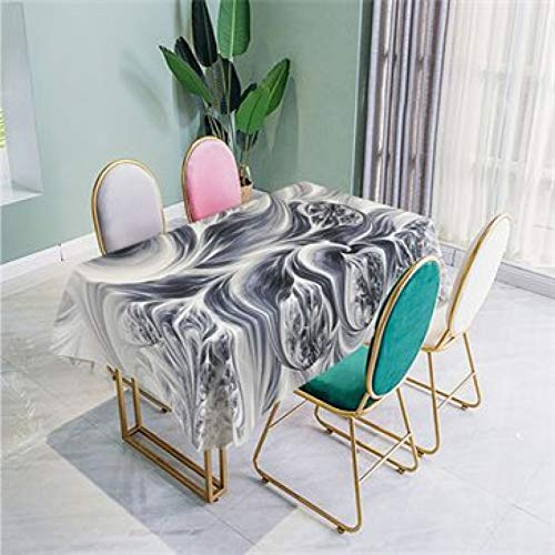 Modern Minimalist 20D Digital Printing Tablecloth Polyester Waterproof Table Mat Rectangular Coffee Table Cover Cloth