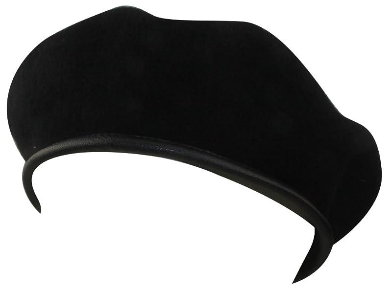 倫理的生まれ忍耐ミナコライフUS.ブラック、ウール ベレー帽