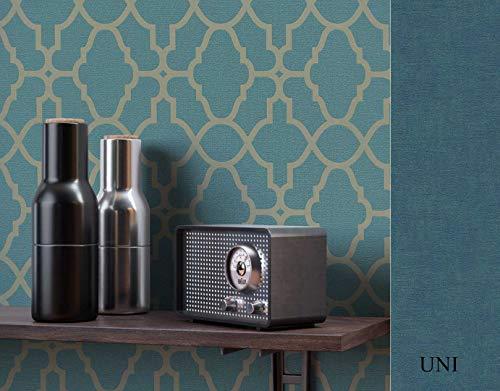 NEWROOM Tapete grafisch grün Muster Tapeten der 50er Art Deco Papiertapete gold Papier Tapete Luxus Glamour inkl. Tapezier Ratgeber ǀ Grafik