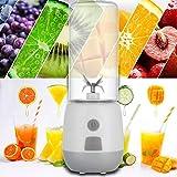 LJLLINGA Portátil 400 ml 15000-22000 RPM USB exprimidor eléctrico de Frutas 80 W Alto Vidrio de borosilicato Mango batido Fabricante Taza de Jugo para Viajar