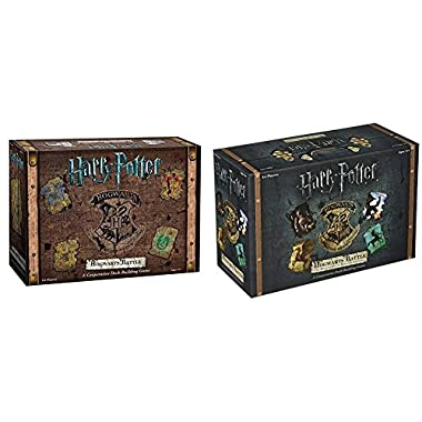 Harry Potter Hogwarts Battle A Cooperative Deck Building Game with USAopoly Harry Potter: Hogwarts Battle - The Monster Box of Monsters Expansion Card Game Bundle