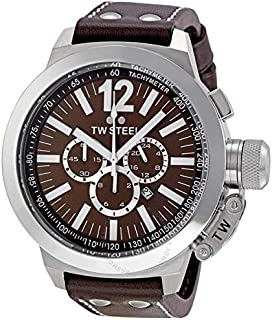 TW Steel Watch for Men, Leather, CE1012