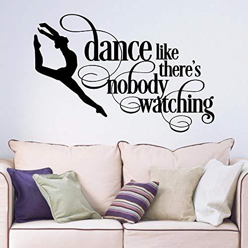 Bailarina de baile extraíble arte vinilo pegatinas de pared sala de estar dormitorio pasillo retrato hogar calcomanía-68x84cm