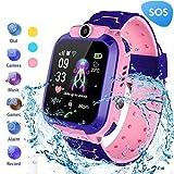 MUXAN Kids Smartwatch Reloj de Pulsera Inteligente Impermeable IP67 con SOS...