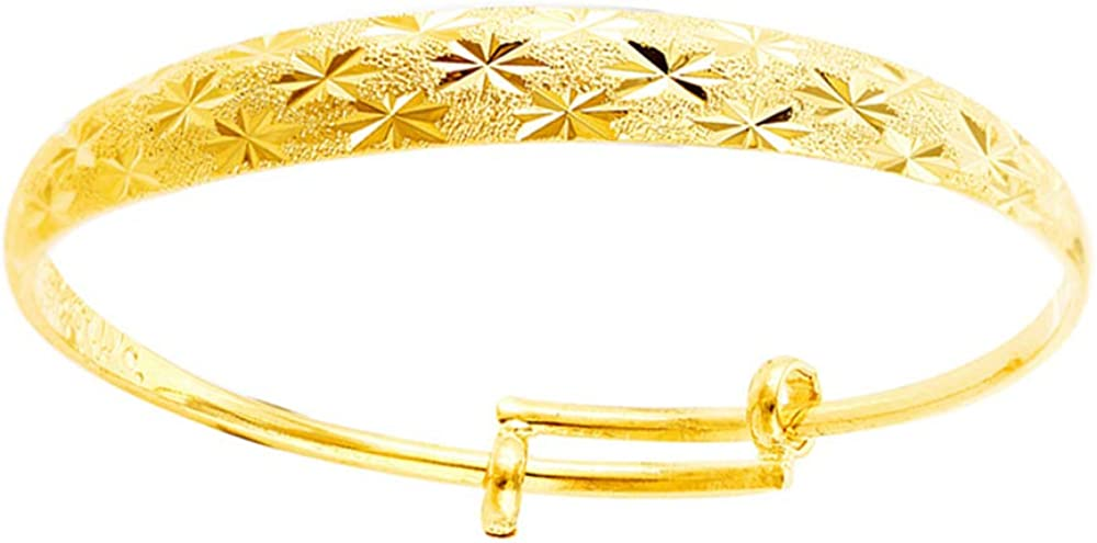 allentian Gold Bracelets for Women, Gold Bangle Cuff Bracelets, Gold-Color Plated Alloy Adjustable Chain Jewelry