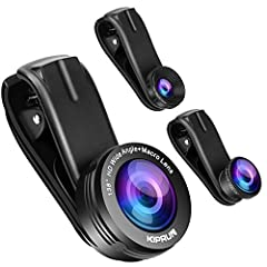 High Quality Cell Phone Lens :Made of high-class glass, professional HD lens reduces glass flare & ghosting caused by reflections. 0.5X Super Wide Angle Lens + 195° Fisheye Lens & 15X Macro Lens, Meet all of your demand! 0.4X Super Wide Angle Lens:It...