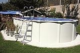 Steely de Luxe - Piscina con pared de acero (medidas: 6,1x 3,7x 1,3m, incluye escalera de seguridad)
