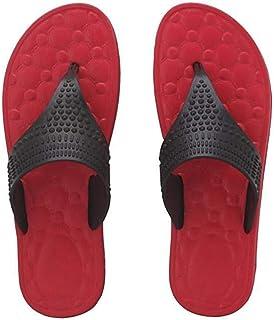 Relaxo FLITE Women's PU Slipper(PUL-46, Black/RED)