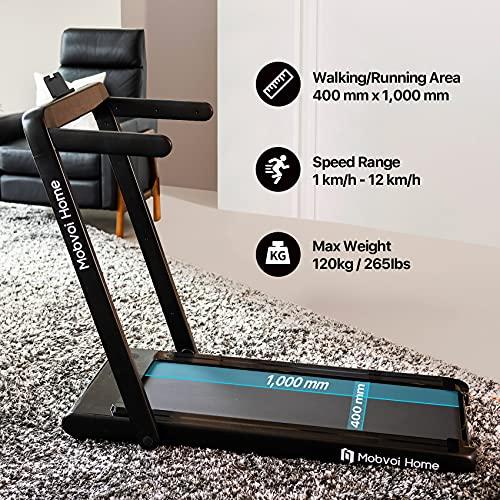 Mobvoi Home Tapis roulant, altoparlante Bluetooth integrato, telecomando, macchina per camminare e correre per esercizi di fitness da casa al coperto