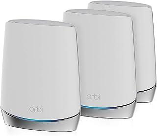 NETGEAR Orbi Mesh WiFi 6 RBK753, Router WiFi 6 + 2 extender, WiFi 6 straveloce AX4200 TriBand, Copertura WiFi Mesh fino a ...
