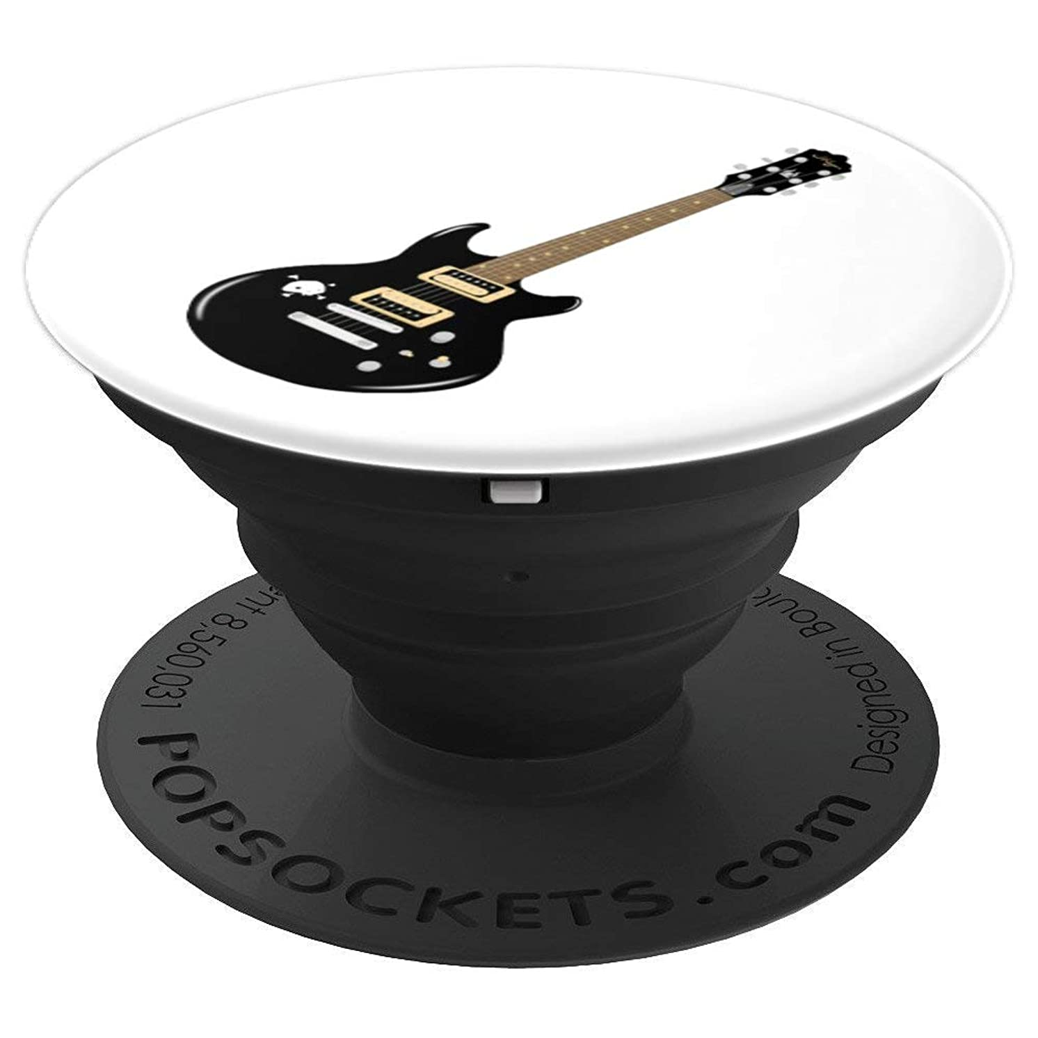 Black Electric Guitar Design - PopSockets Grip and Stand for Phones and Tablets