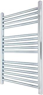 400 mm (w) x 800 mm (h) - Piso Radiador toallero cromado horizontal Diámetro: 22 mm, Bar Modelo: 4 + 5 + 6