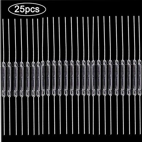 RUNCCI-YUN 25pcs Reed Interruptor Normalmente Abierto (N/O) magnético Interruptor de inducción electromagnética