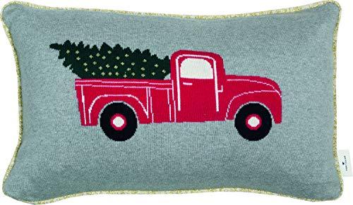 TOM TAILOR Deko Kissen Christmas Car • Kissenbezug 30x50 grau • Deko Wohnzimmer • ohne Füllung • Zierkissenhülle • 100{430d0f209bc6f7f7cc371d69e5515460e0202582479cd66f795cbe516715de8b} Baumwolle