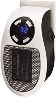 Soleil Ceramic Personal Wall Space Heater Thermostat Portable Small Heat Wall Outlet