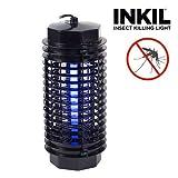 Inkil IG104216 Lampe anti-moustiques électrique cylindrique à lumière ultraviolette Foudroie les insectes sans avoir recours à des substances chimiques Noir 32m² 4W 220V