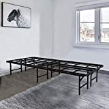 Tooyyer Elite 14' Full Foldable Metal Platform Bed Frame Mattress Foundation , Super Heavy Duty Sturdy Steel Slat Support Max Load 3500lbs , 13' Under Bed Storage , No Box Spring Needed (Full)
