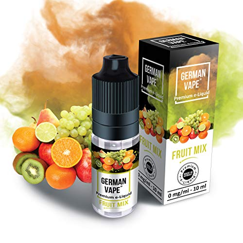 German Vape E Liquid - E-Liquid ohne Nikotin - Echter Premium Geschmack - eLiquid 1 x 10 ml Fruit Mix - E Liquids für E Zigarette - 100% Made in Germany