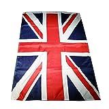 My London Souvenirs Bandera británica Union Jack, especial para fiestas y deportes, 152,4 x 91,44 cm aprox., incluye dos ojetes, apta para uso en exterior e interior