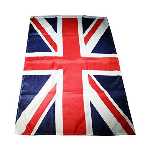 Union Jack, britische Flagge, 152 cm x 91 cm / Großbritannien / Britische / Königliche Flagge/ London Fußball Party / Patriotische Partys drinnen / draußen, mit zwei Nestellöcher Flagge Souvenir! Qualitätvoll Verpackung / GB / UK / Vereinigtes Königr