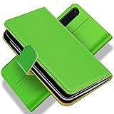 Conie BW11225 Basic Wallet Kompatibel mit Huawei P30, Booklet PU Leder Hülle Tasche mit Kartenfächer & Aufstellfunktion für P30 Case Grün
