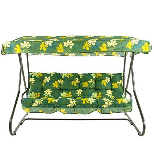 PATIO 3-Sitzer Hollywoodschaukel Milano 170 cm Gartenschaukel Sonnendach Sitzpolster Klappbar Liegefunktion G010-02PB